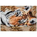 Counted Cross Stitch-65056 Gold Petite Beguiling Tiger