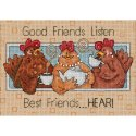 Counted Cross Stitch-65079 Good Friends Listen