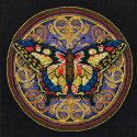 Counted Cross Stitch-65095 Gold Petite Ornate Butterfly