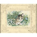 Counted Cross Stitch-6957 Matted Accents Kitten & Butterfly