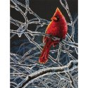 Counted Cross Stitch-70-35292 Ice Cardinal