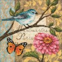 Counted Cross Stitch-70-65103 Gold Petite Bird Poste