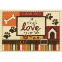 Counted Cross Stitch-70-65124 A Dog's Love