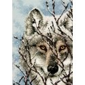 Counted Cross Stitch-70-65131 Gold Petite Wolf
