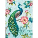 Counted Cross Stitch-70-65146 Gold Petite Blue Peacock