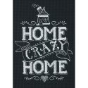 Counted Cross Stitch-70-65149 Home Crazy Home