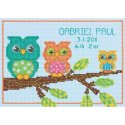 Counted Cross Stitch-70-73699 Owl Birth Record Mini